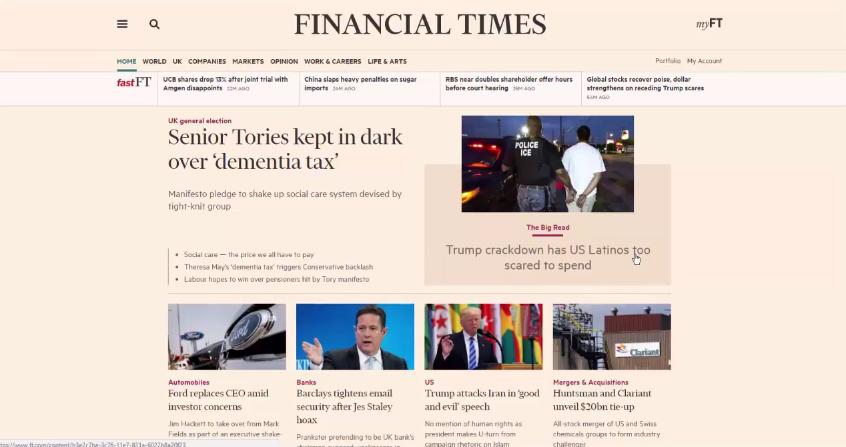 Financial market news - 22nd May 2017
