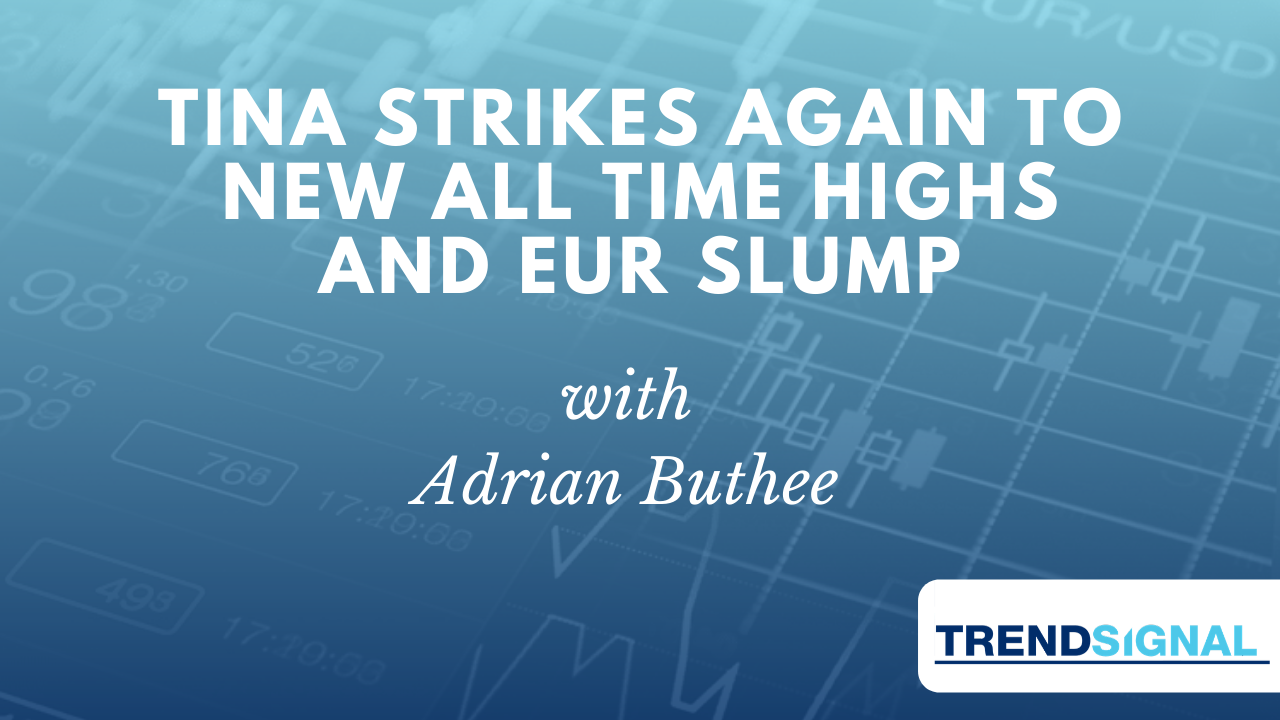 TINA strikes again to new all time highs and EUR Slump
