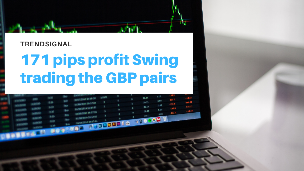 171 pips profit Swing trading the GBP pairs